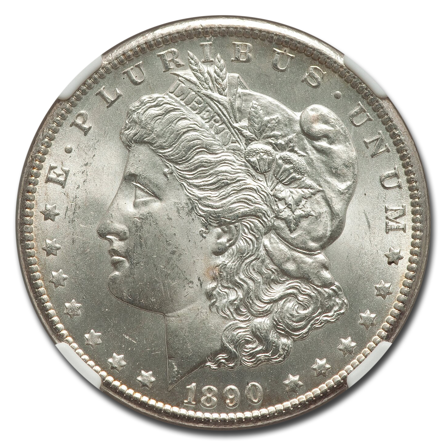 1890-CC Morgan Dollar MS-64 NGC
