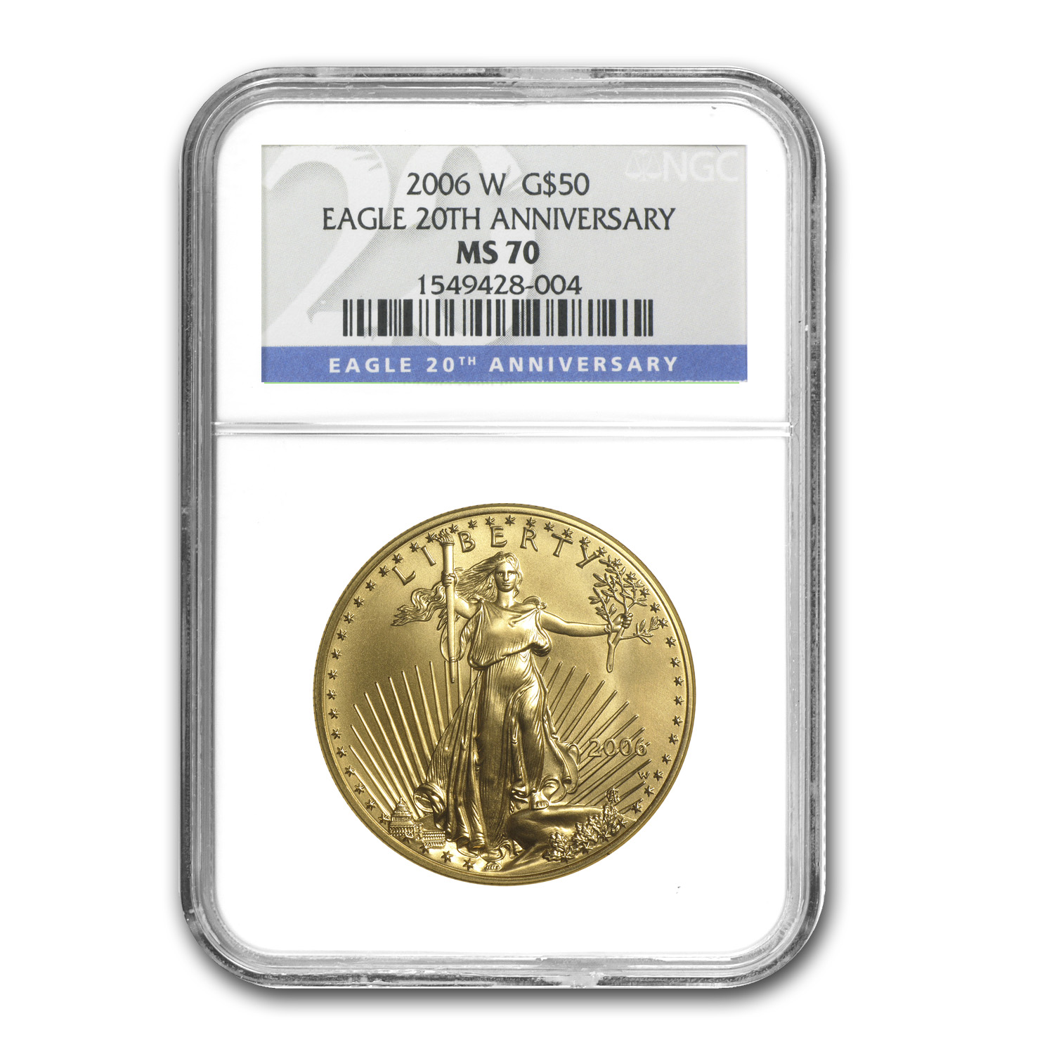 2006-W 3-Coin Gold American Eagle Set MS/PF-70 NGC