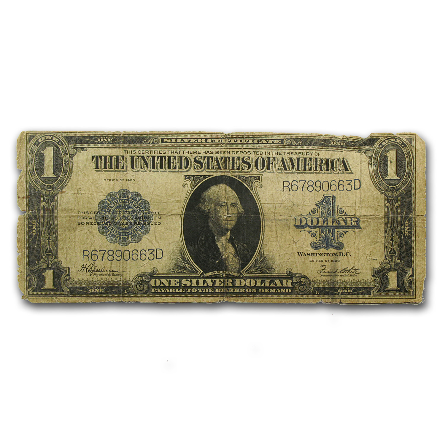 1923 $1.00 Silver Certificate Good