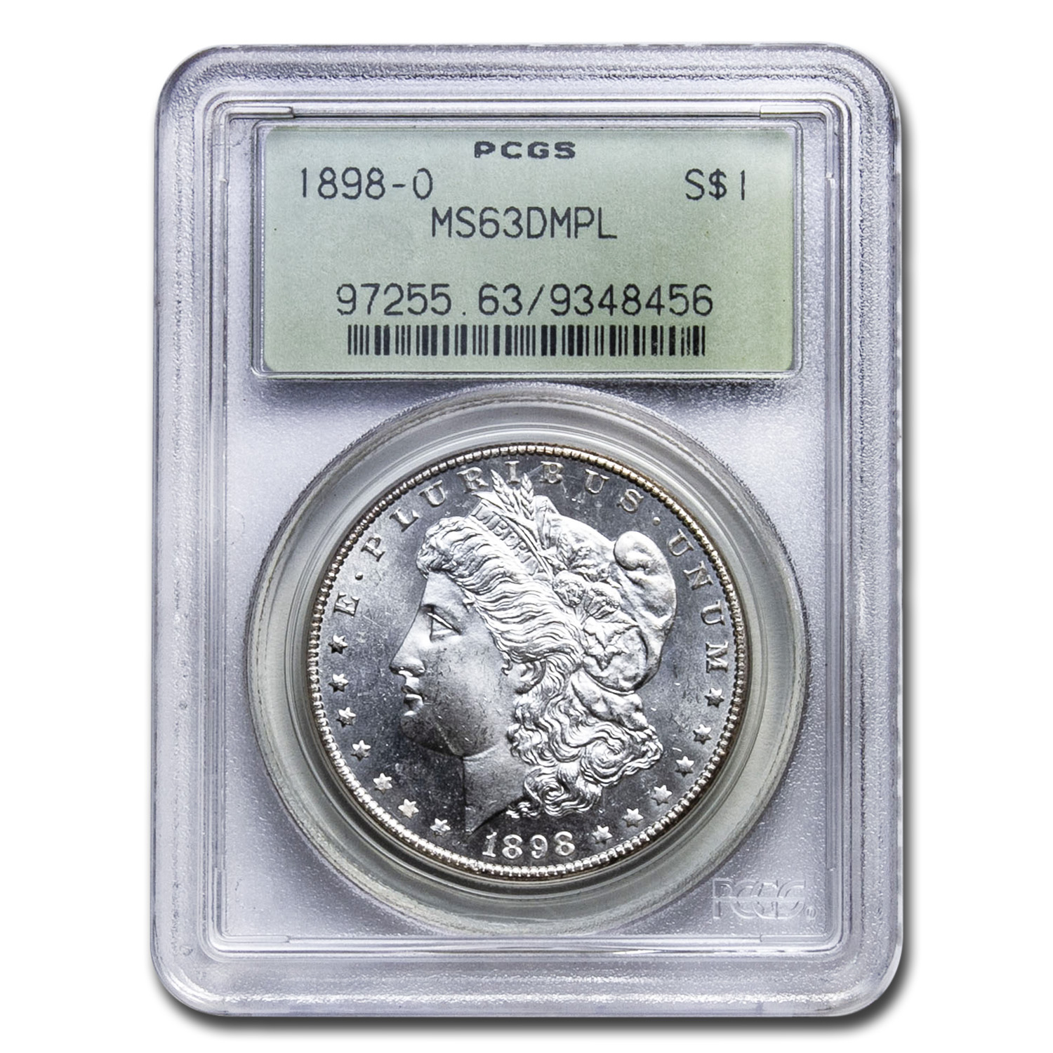 1898-O Morgan Dollar MS-63 DMPL Deep Mirror Proof Like PCGS