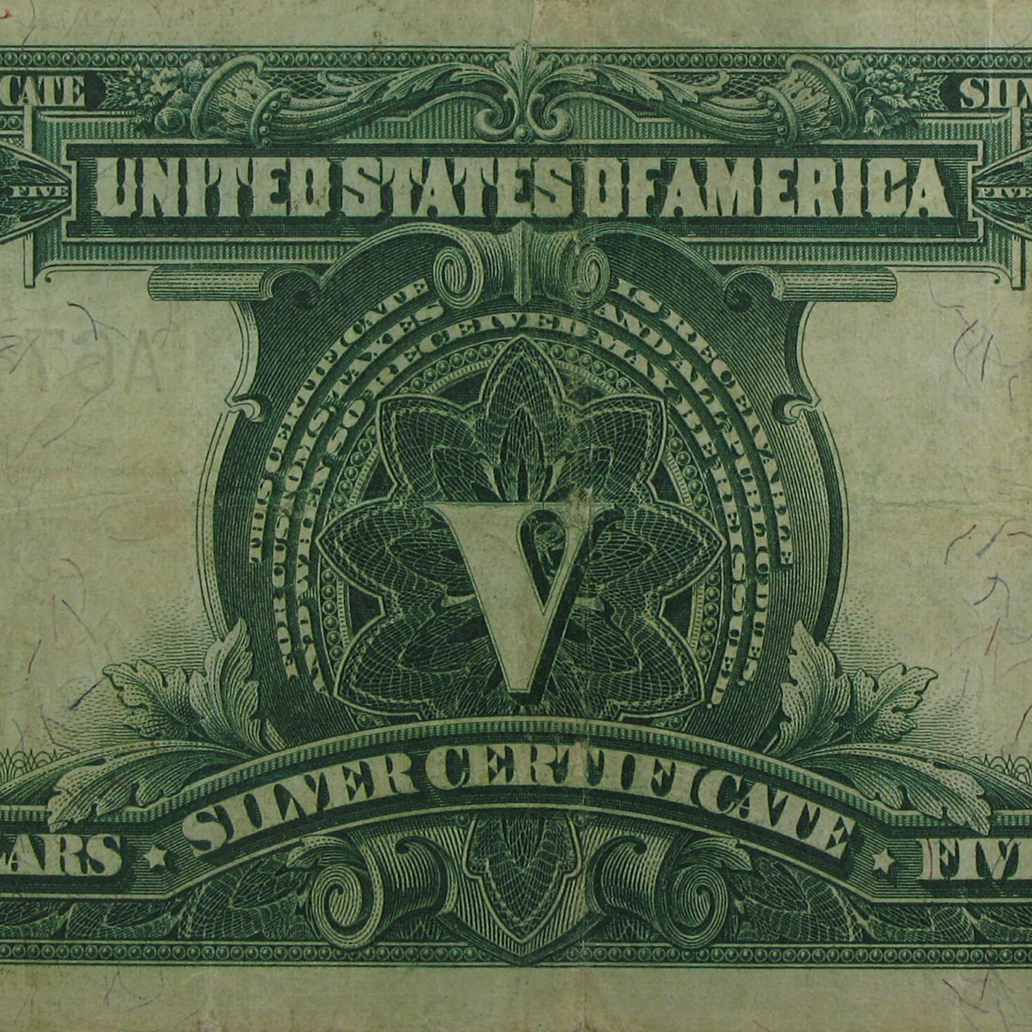 1899 $5.00 Silver Certificate Chief Running Antelope VF+