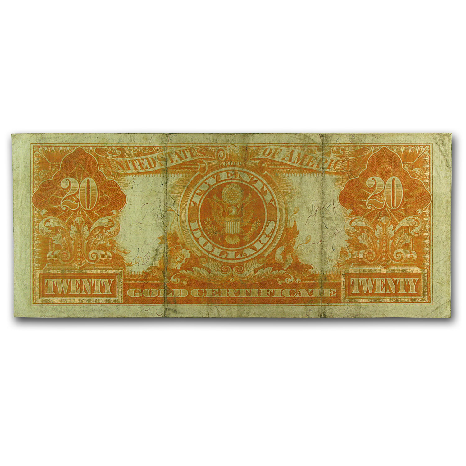 1906 $20  Gold Certificate (Very Fine +)