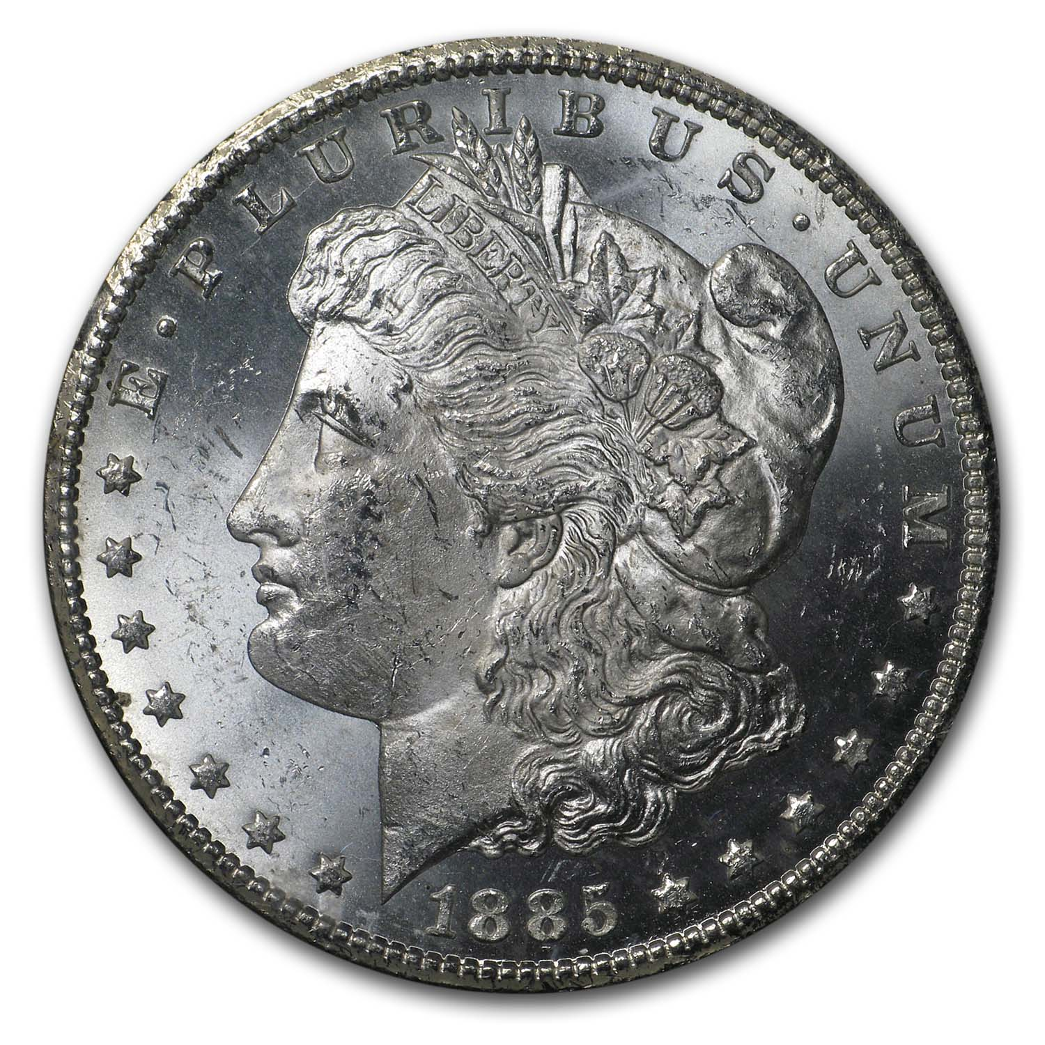 1885-CC Morgan Dollar Brilliant Uncirculated - GSA Holder