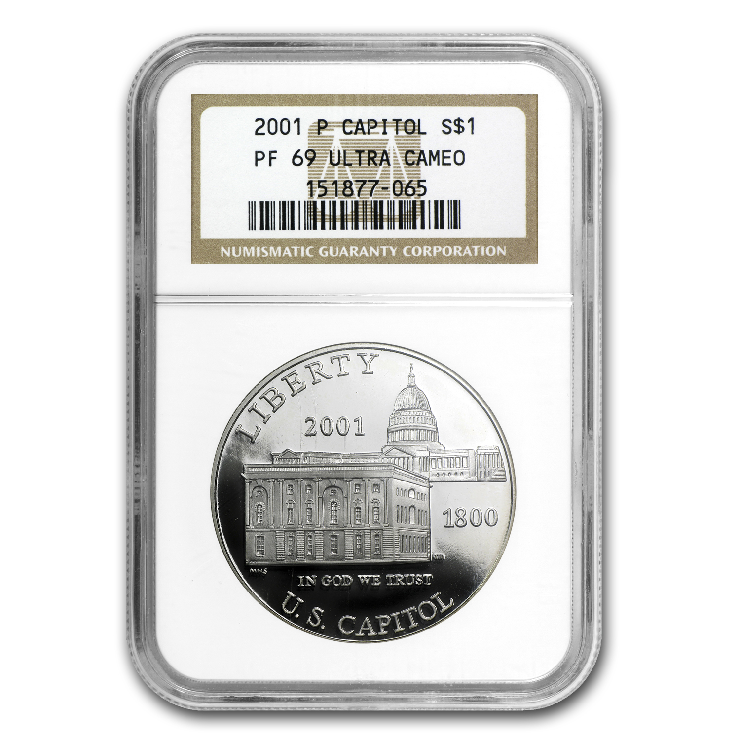 2001-P Capitol Visitor Center $1 Silver Commem PF-69 NGC
