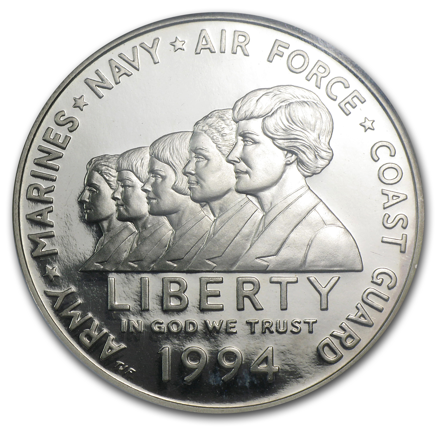 1994-P Women in Military $1 Silver Commemorative PF-69 NGC