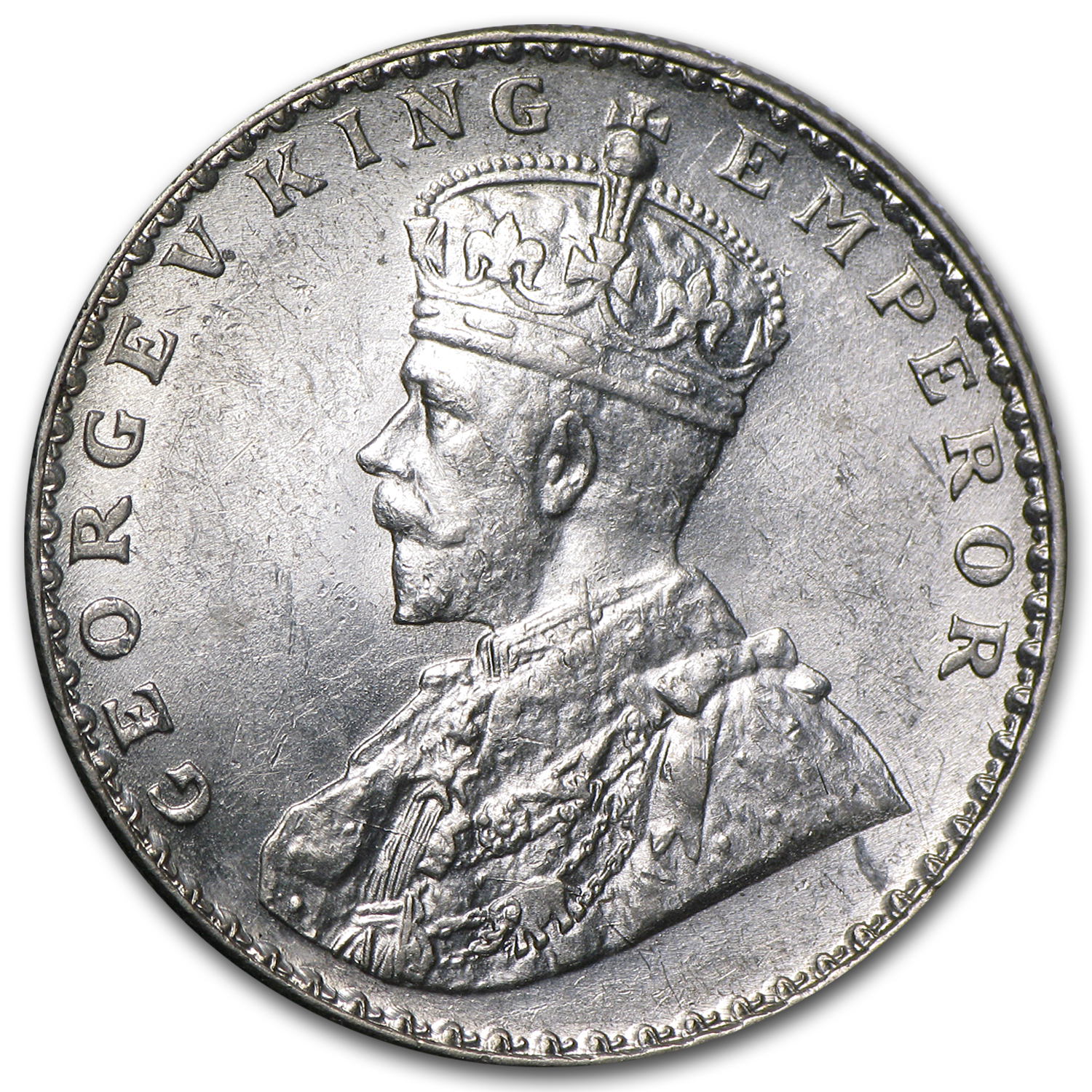 India Silver Rupees King George V AU