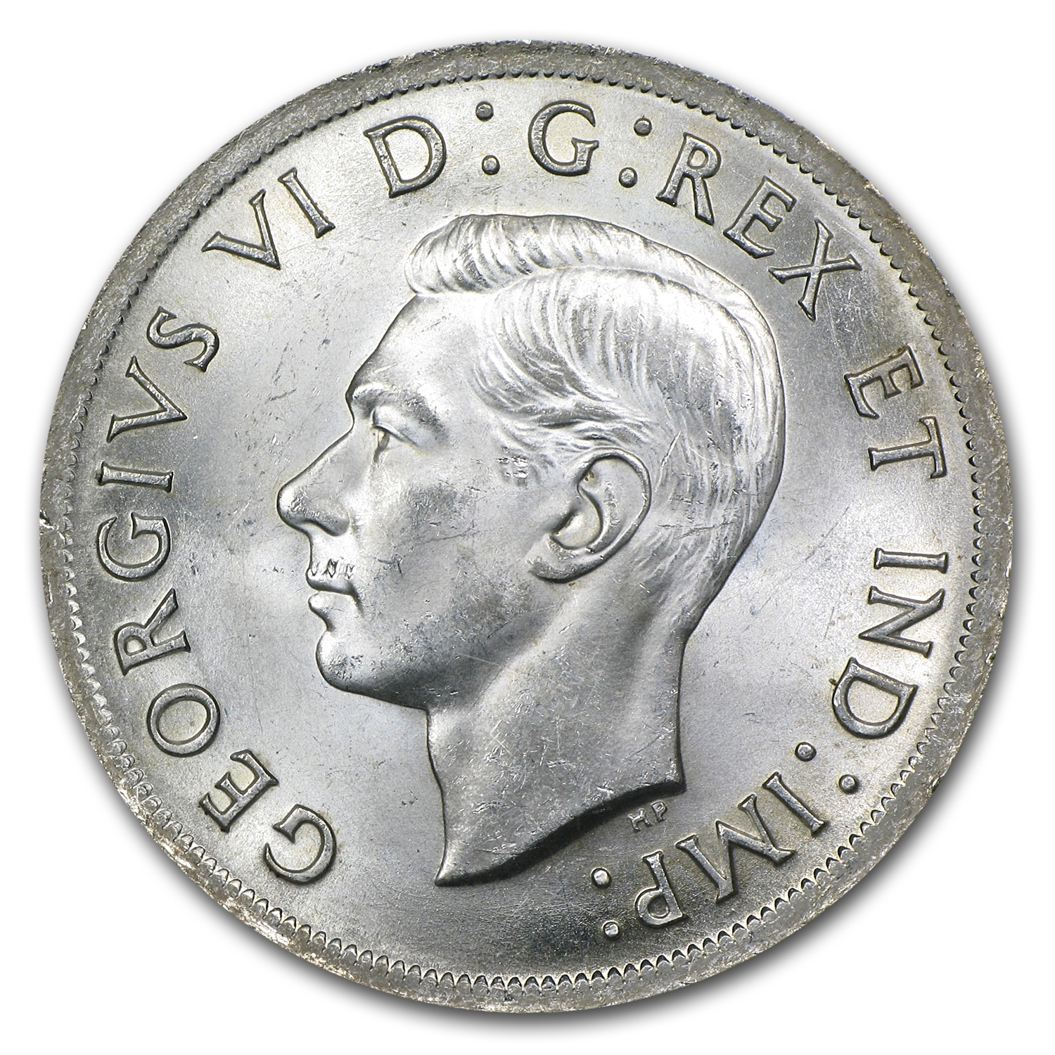 1939 Canada Silver Dollar King George VI BU