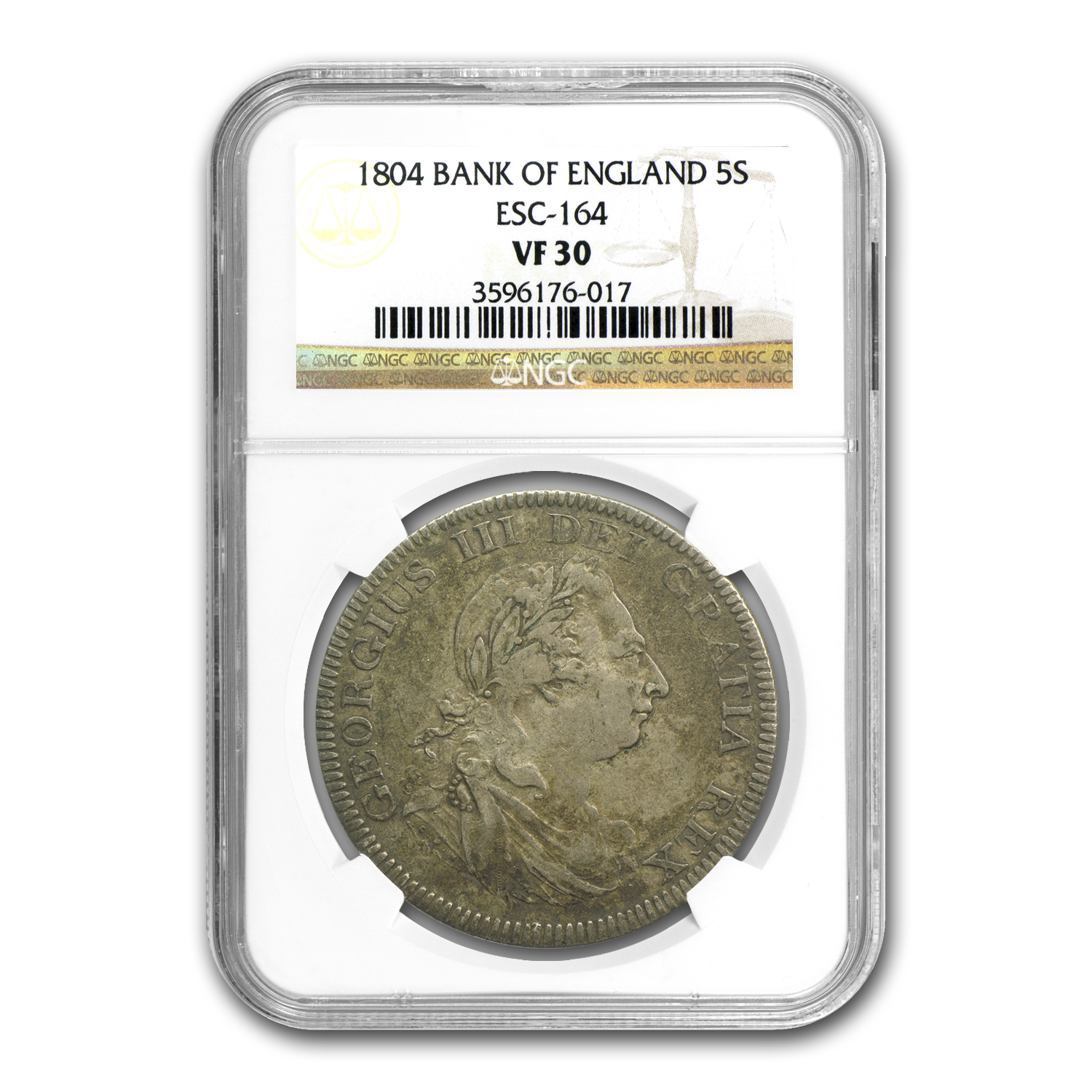 1804 Great Britain George III Bank of England Dollar VF-30 NGC