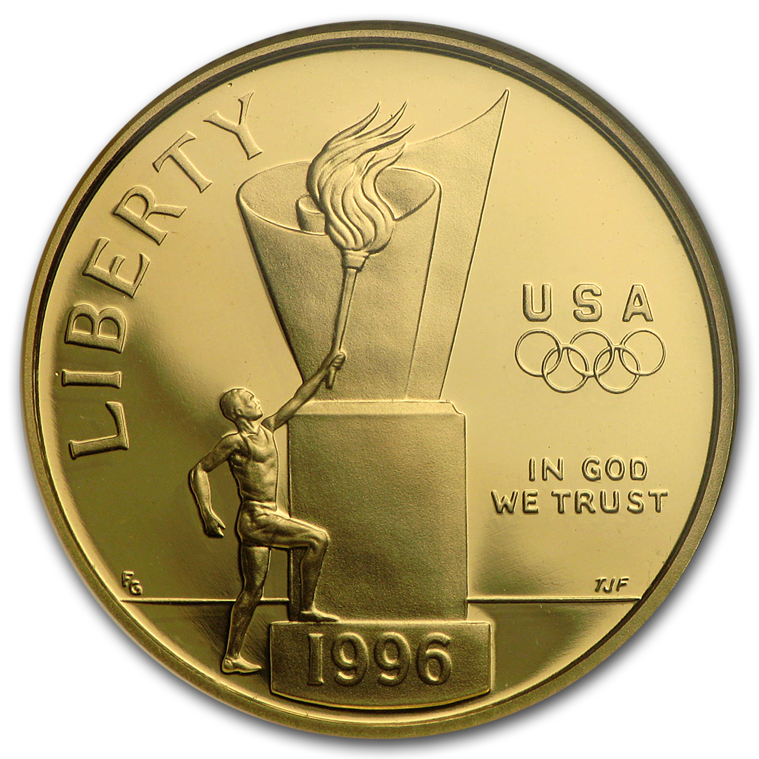 1996-W Gold $5 Commem Olympic Cauldron PF-69 NGC