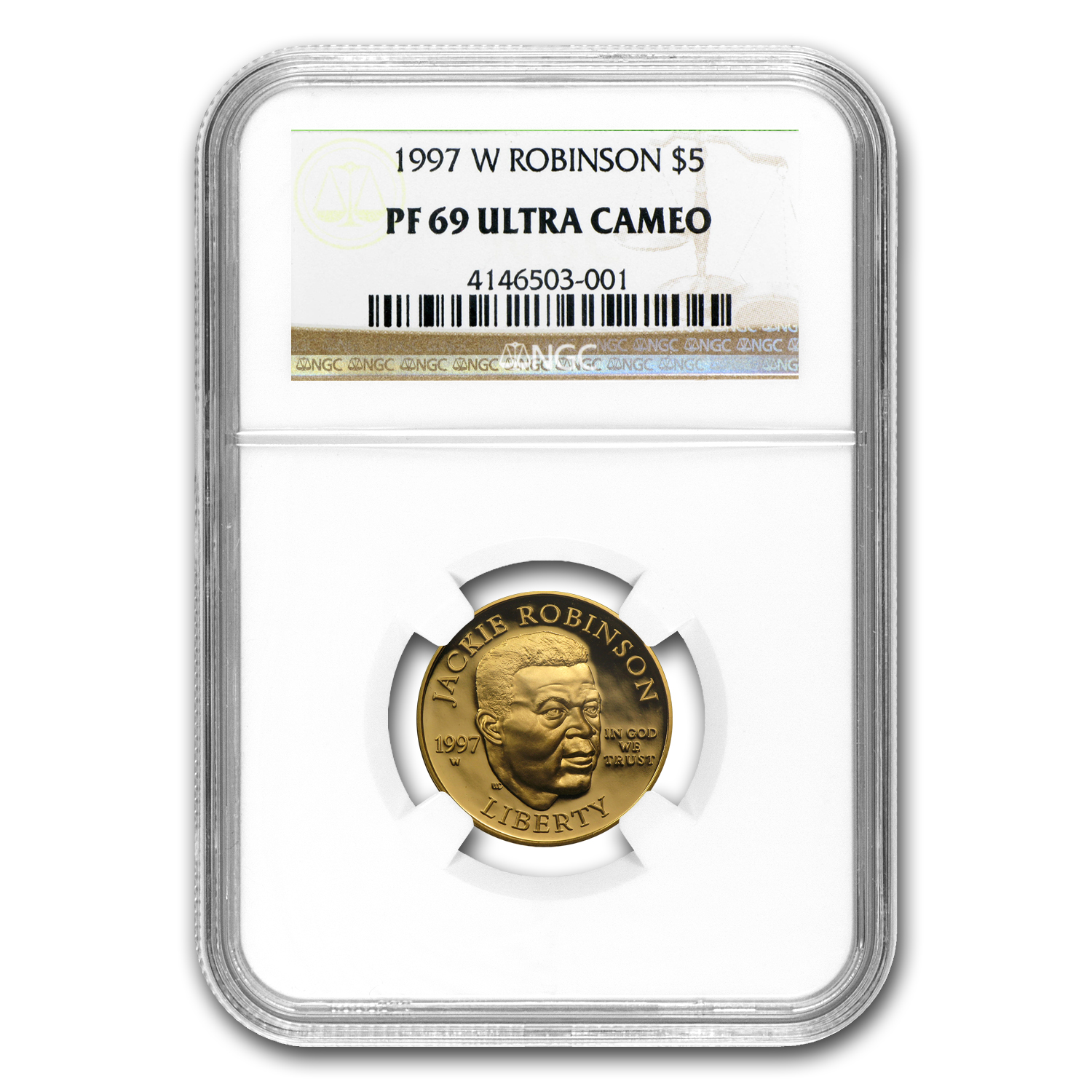 1997-W Gold $5 Commemorative Jackie Robinson PF-69 NGC