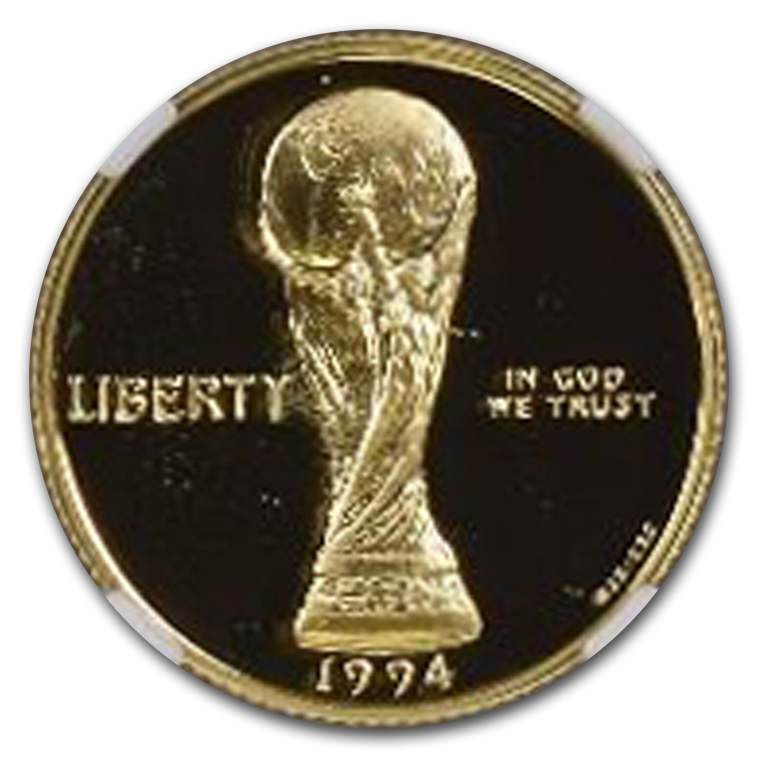 1994-W Gold $5 Commem World Cup PF-69 NGC