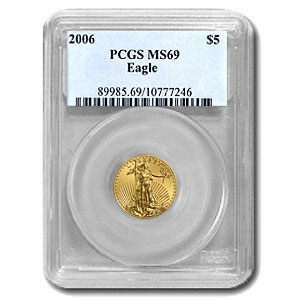2006 1/10 oz Gold American Eagle MS-69 PCGS