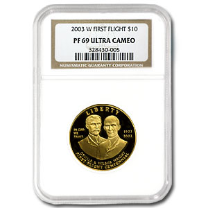2003-W First Flight Centennial - $10 Gold Commem - PF-69 UCAM NGC