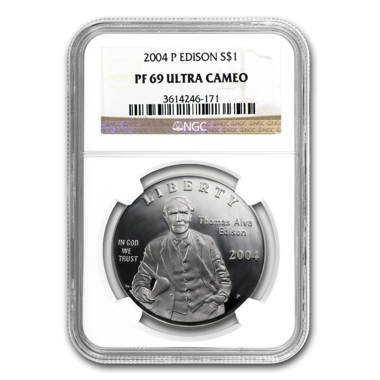 2004-P Thomas Edison $1 Silver Commemorative PF-69 NGC