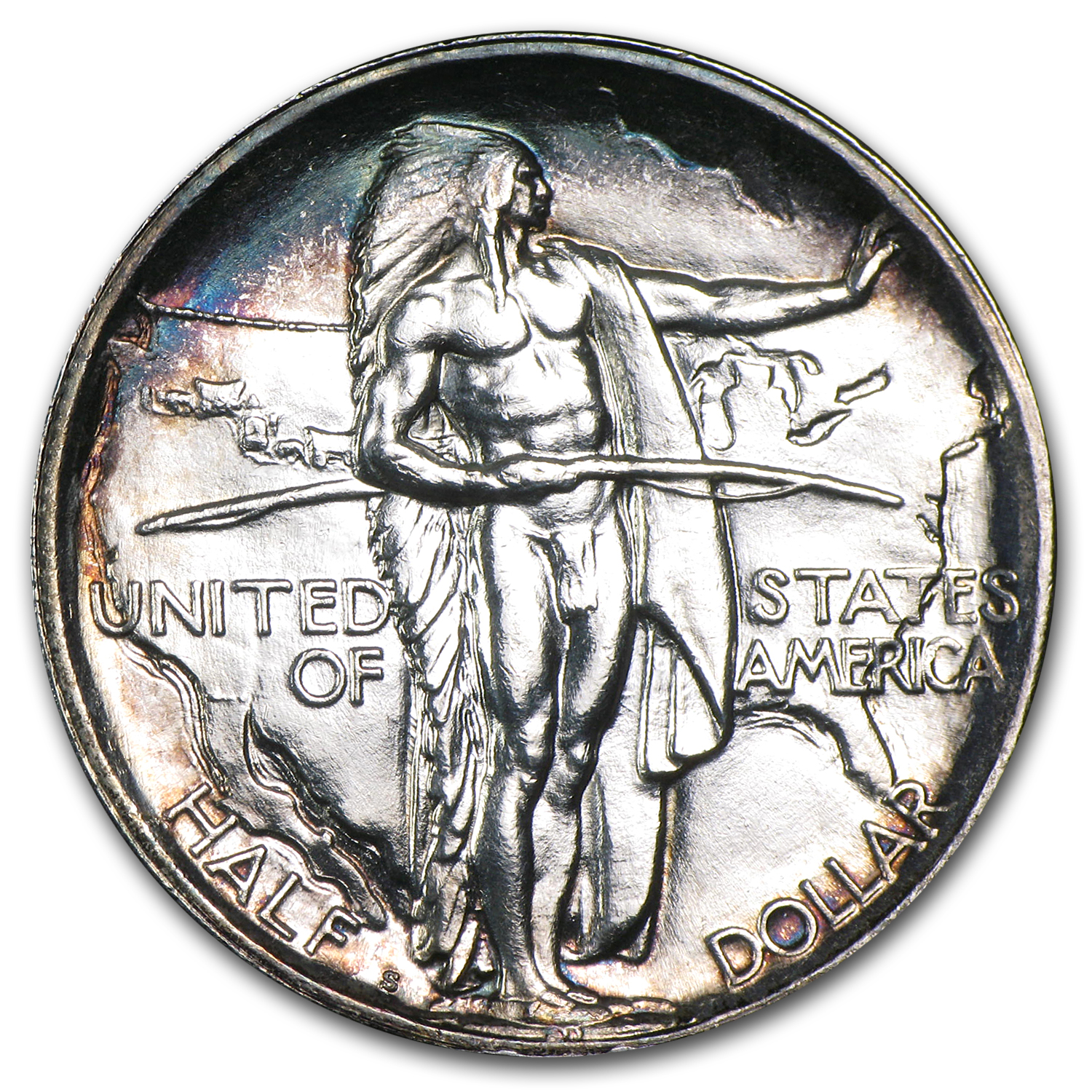 1926-S Oregon Trail Memorial Half Commem Half BU