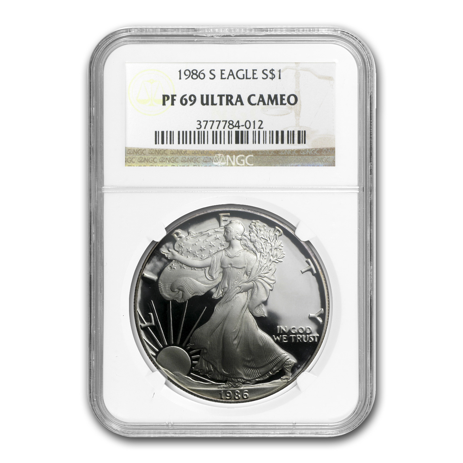 1986-S Proof Silver American Eagle PF-69 NGC