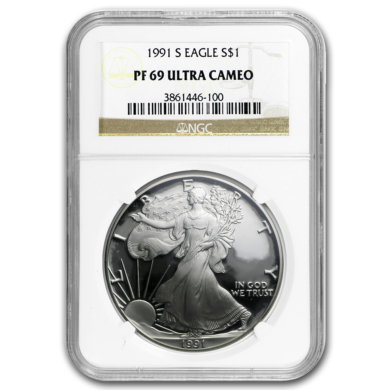 1991-S Proof Silver American Eagle PF-69 NGC