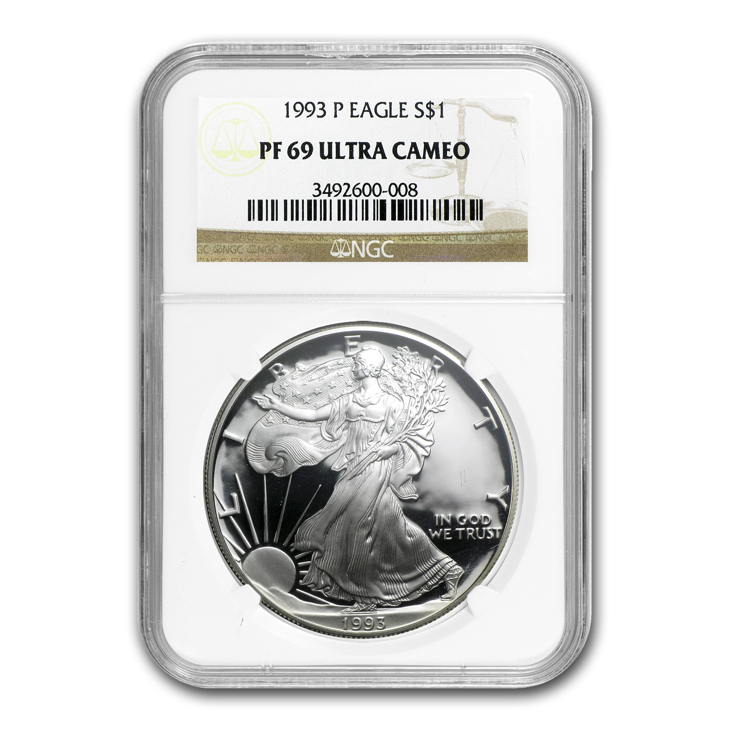 1993-P Proof Silver American Eagle PF-69 NGC