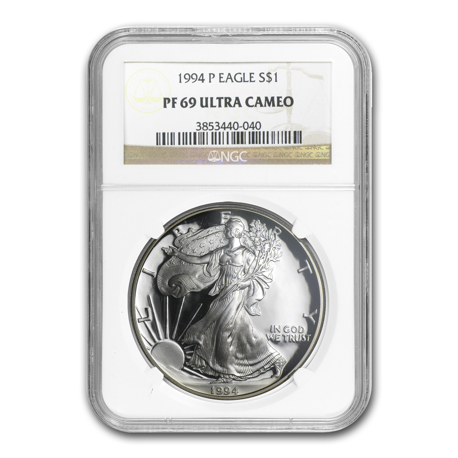 1994-P Proof Silver American Eagle PF-69 NGC