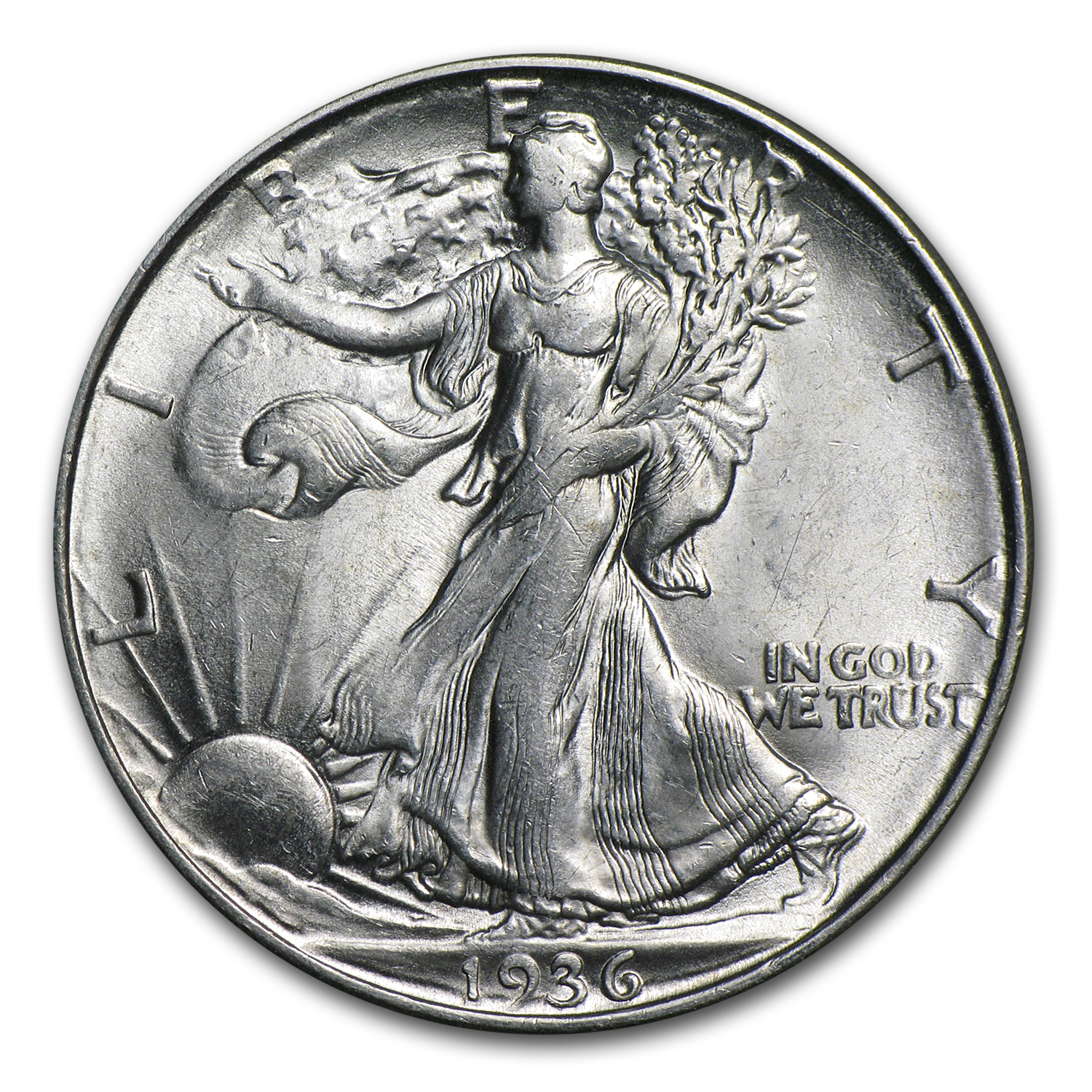 1936-D Walking Liberty Half Dollar BU
