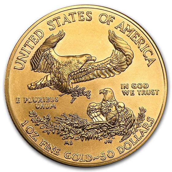 1 oz Gold American Eagle (Random Year) (BU)