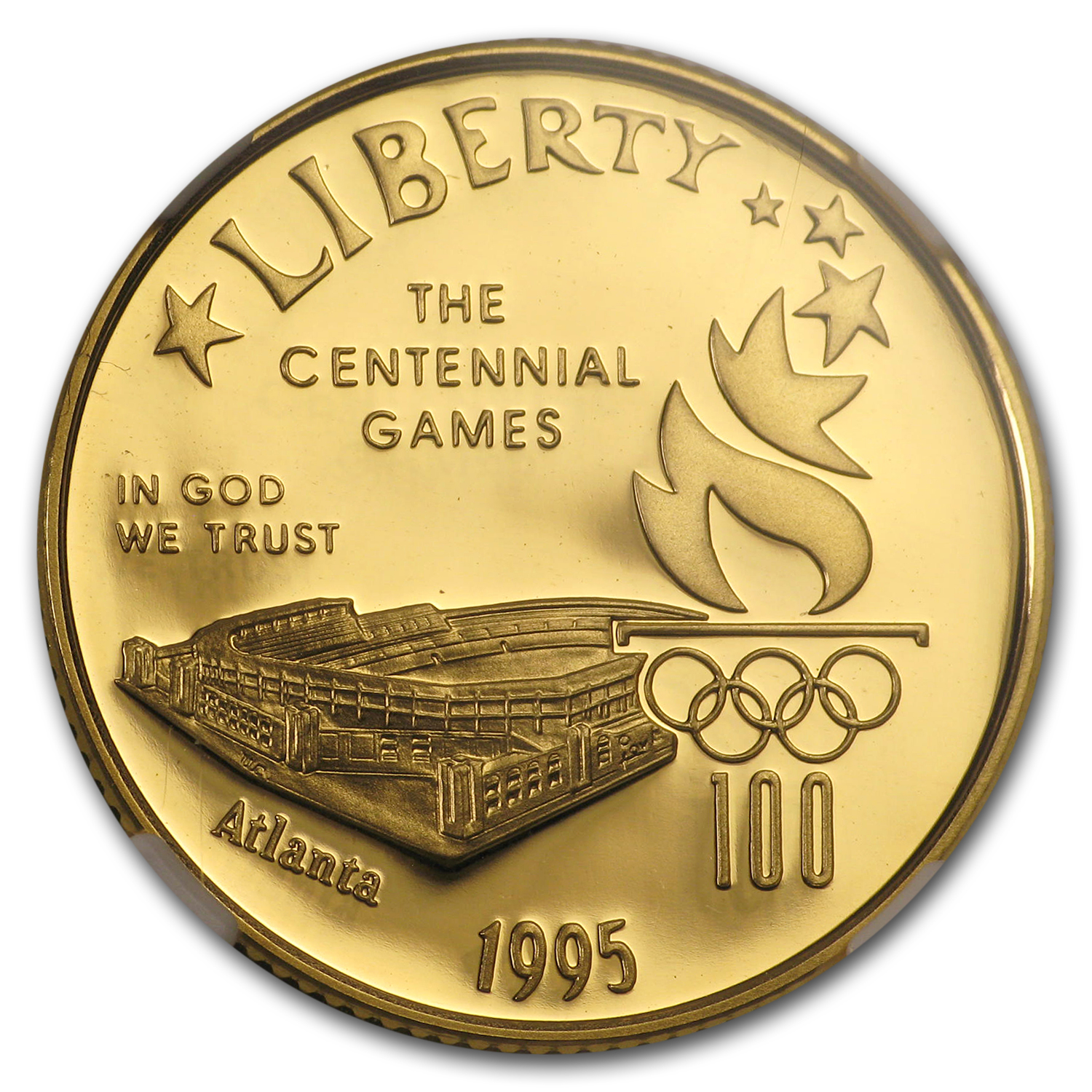 1995-W $5 Gold Commem Olympic Stadium PF-70 NGC