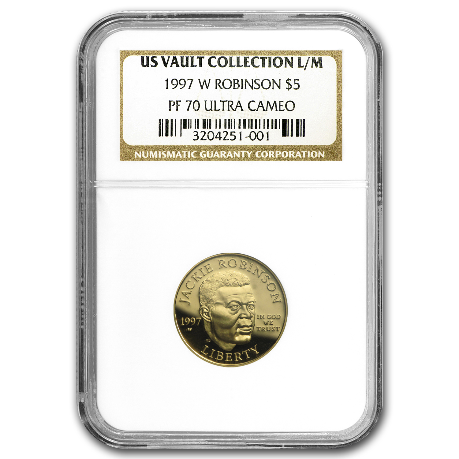 1997-W Gold $5 Commemorative Jackie Robinson PF-70 NGC