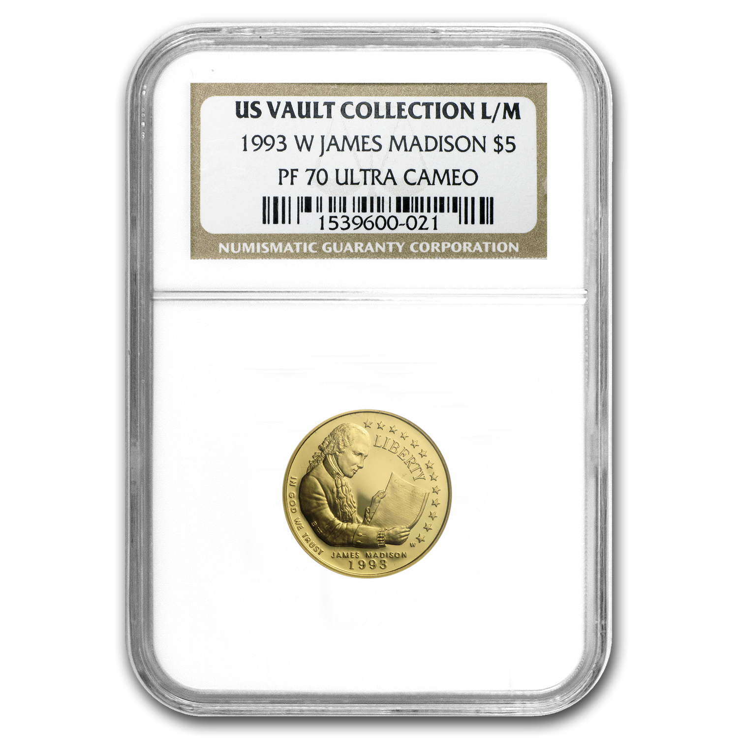 1993-W Gold $5 Commem Bill of Rights PF-70 NGC