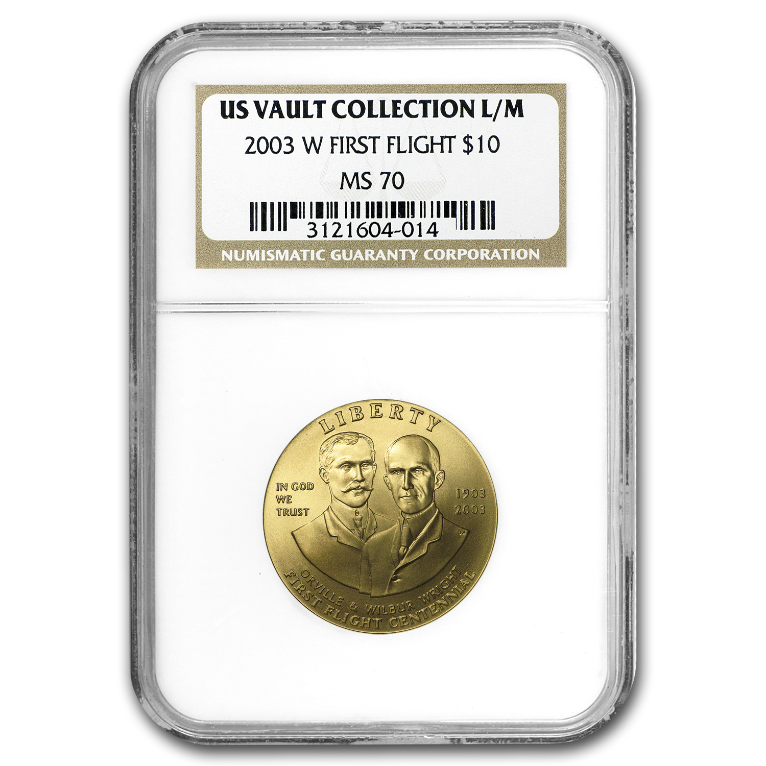 US Mint Gold $10 Commem MS & PF-70 NGC/PCGS