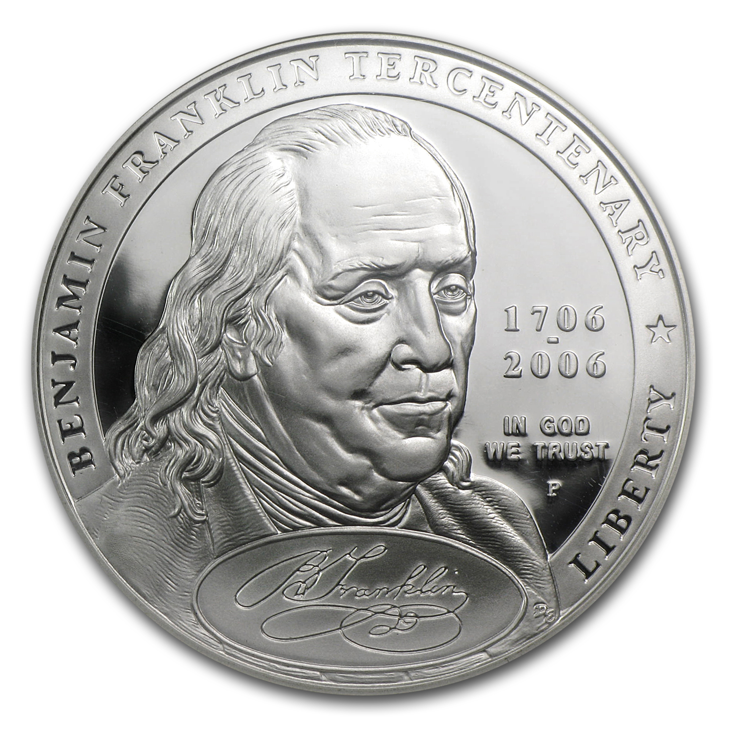 2006-P Ben Franklin Founding Father $1 Silver Commem PF-70 NGC