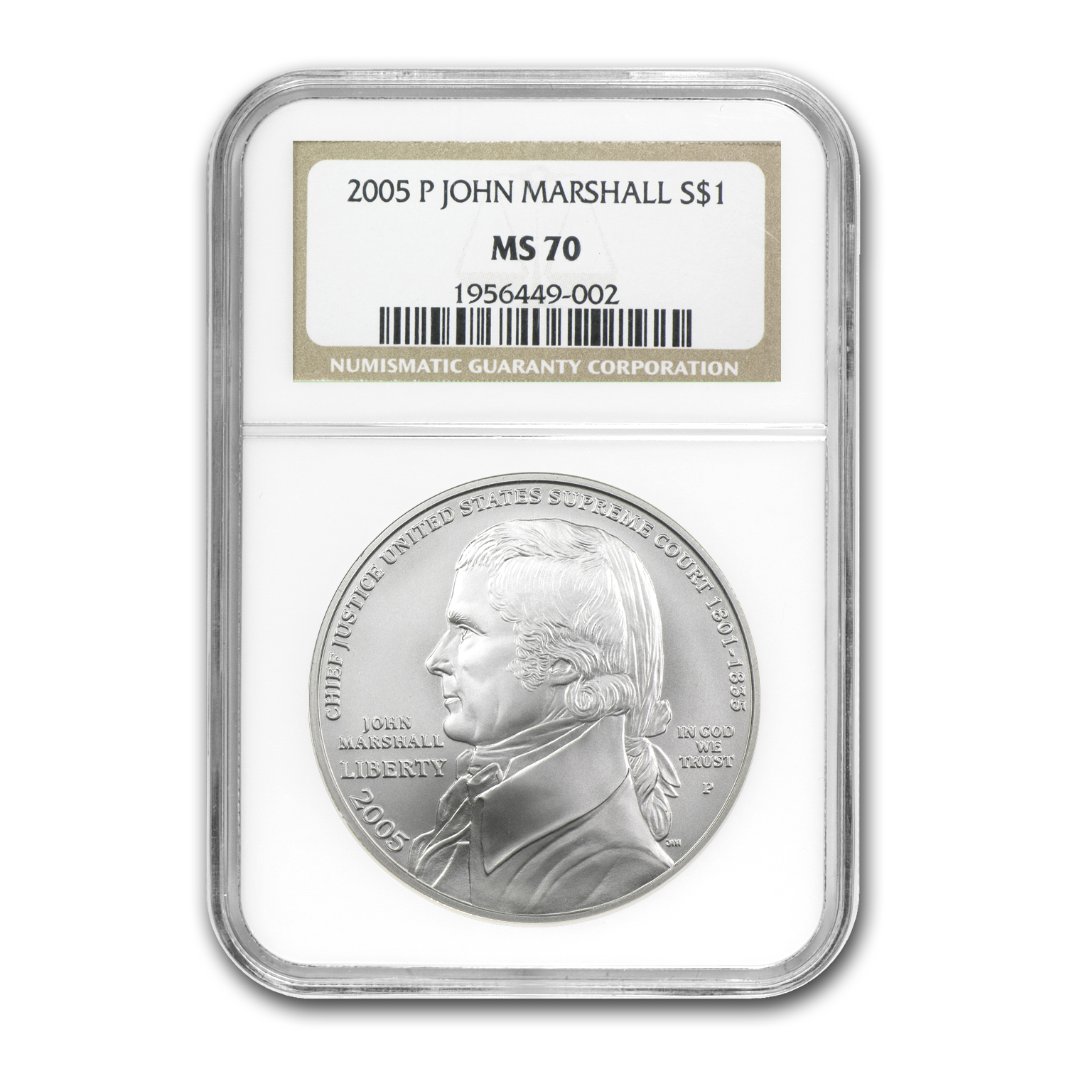 2005-P Chief Justice Marshall $1 Silver Commem MS-70 NGC