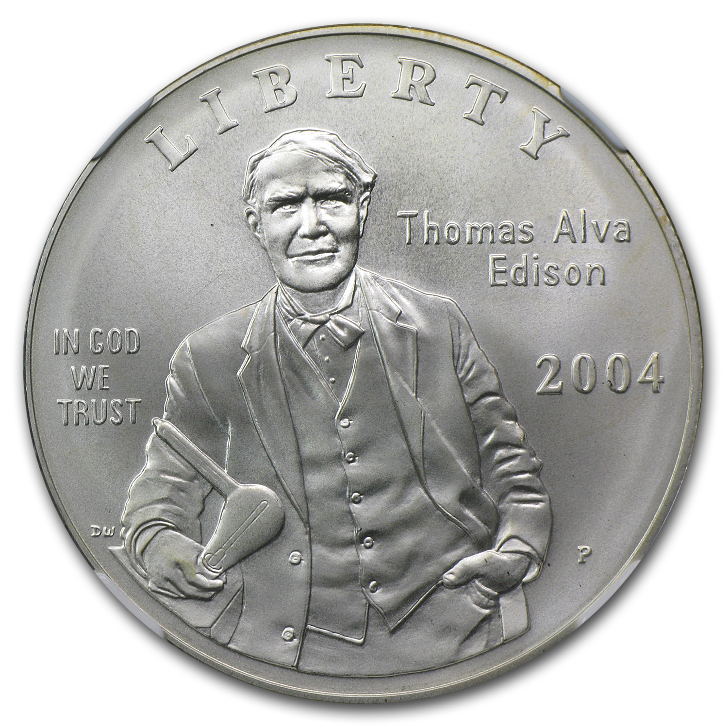 2004-P Thomas Edison $1 Silver Commem MS-70 NGC