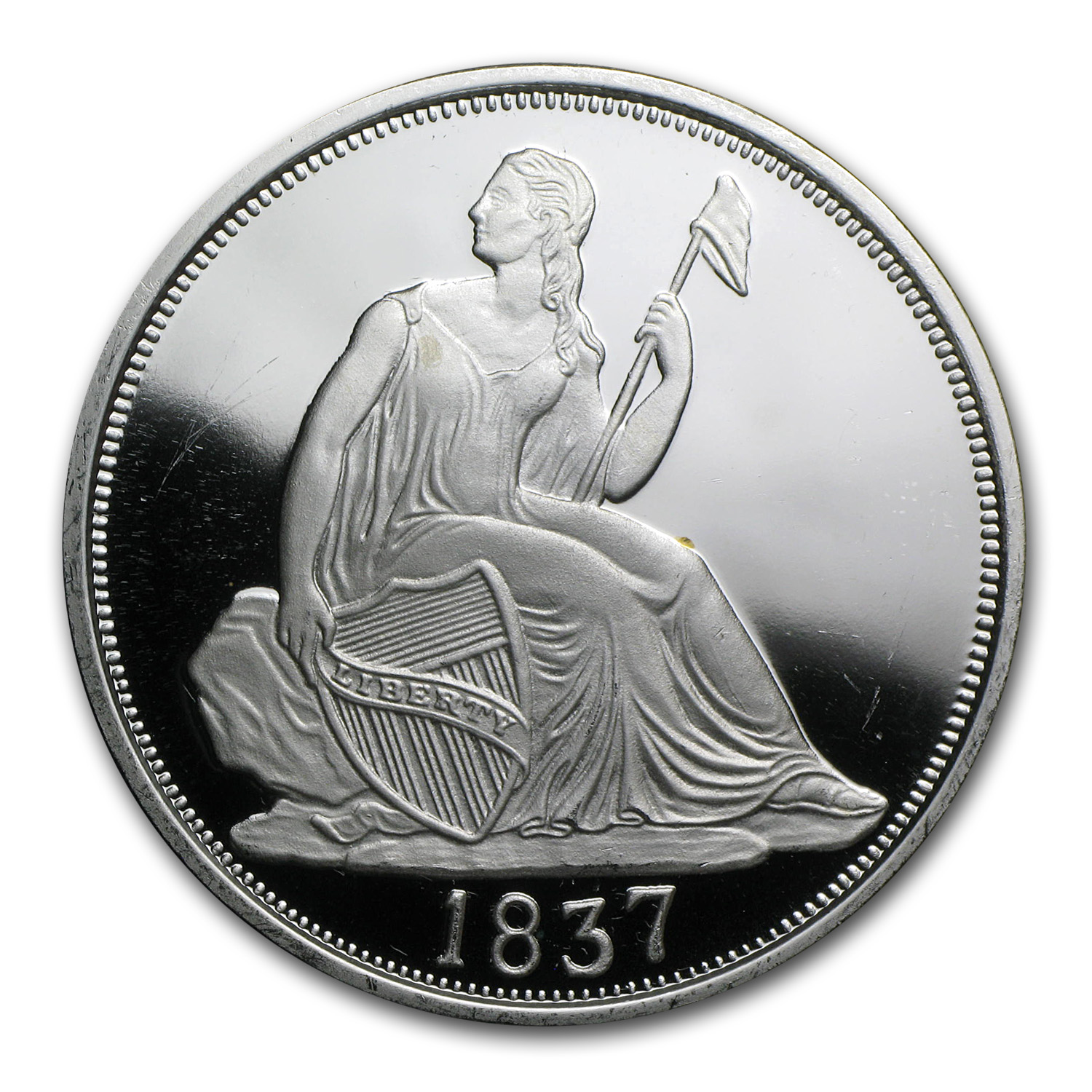 2 oz Silver Round - Seated Dime (Replica)