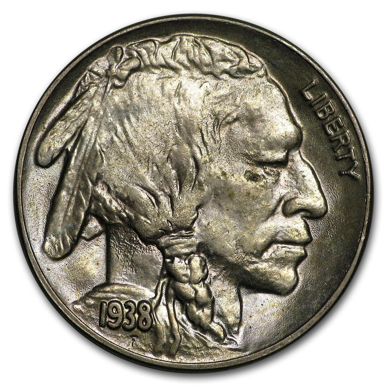 1938 D Buffalo Nickel Ms 63 Buffalo Nickels 1913 1938