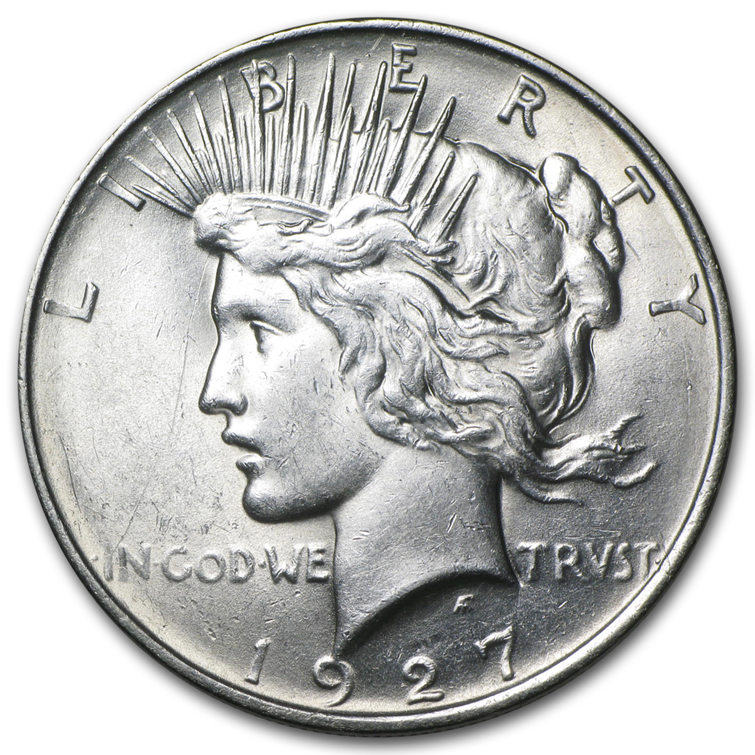 1927-D Peace Dollar - Almost Uncirculated