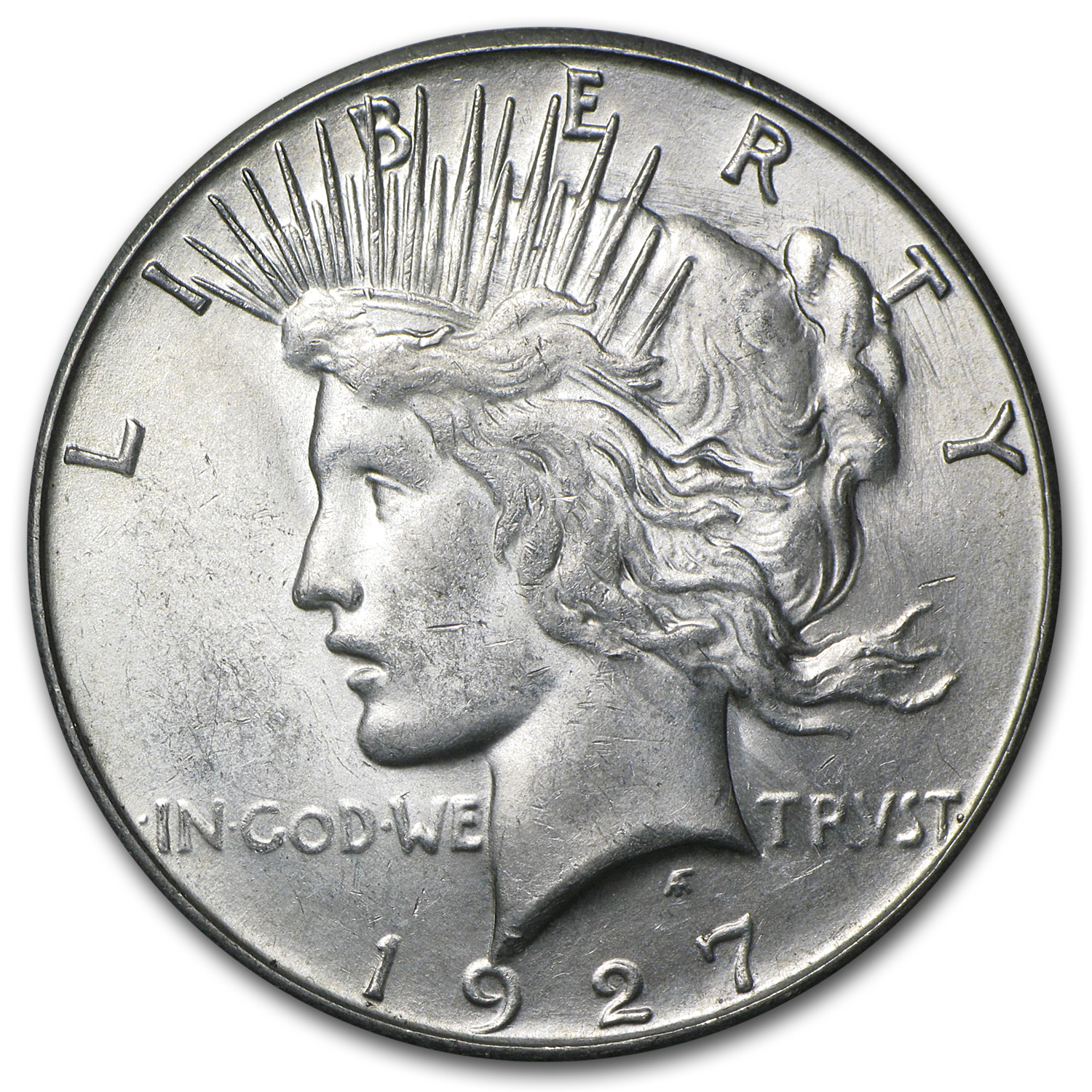 1927-S Peace Dollar - Brilliant Uncirculated