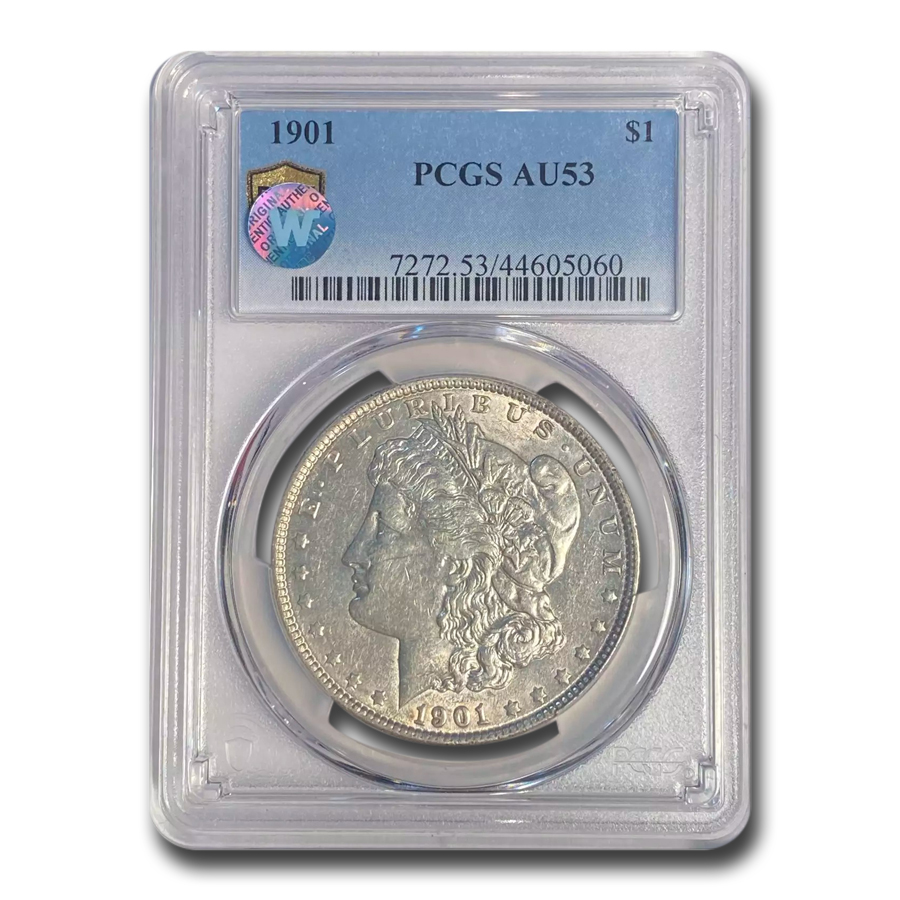 1901 Morgan Dollar AU-53 PCGS