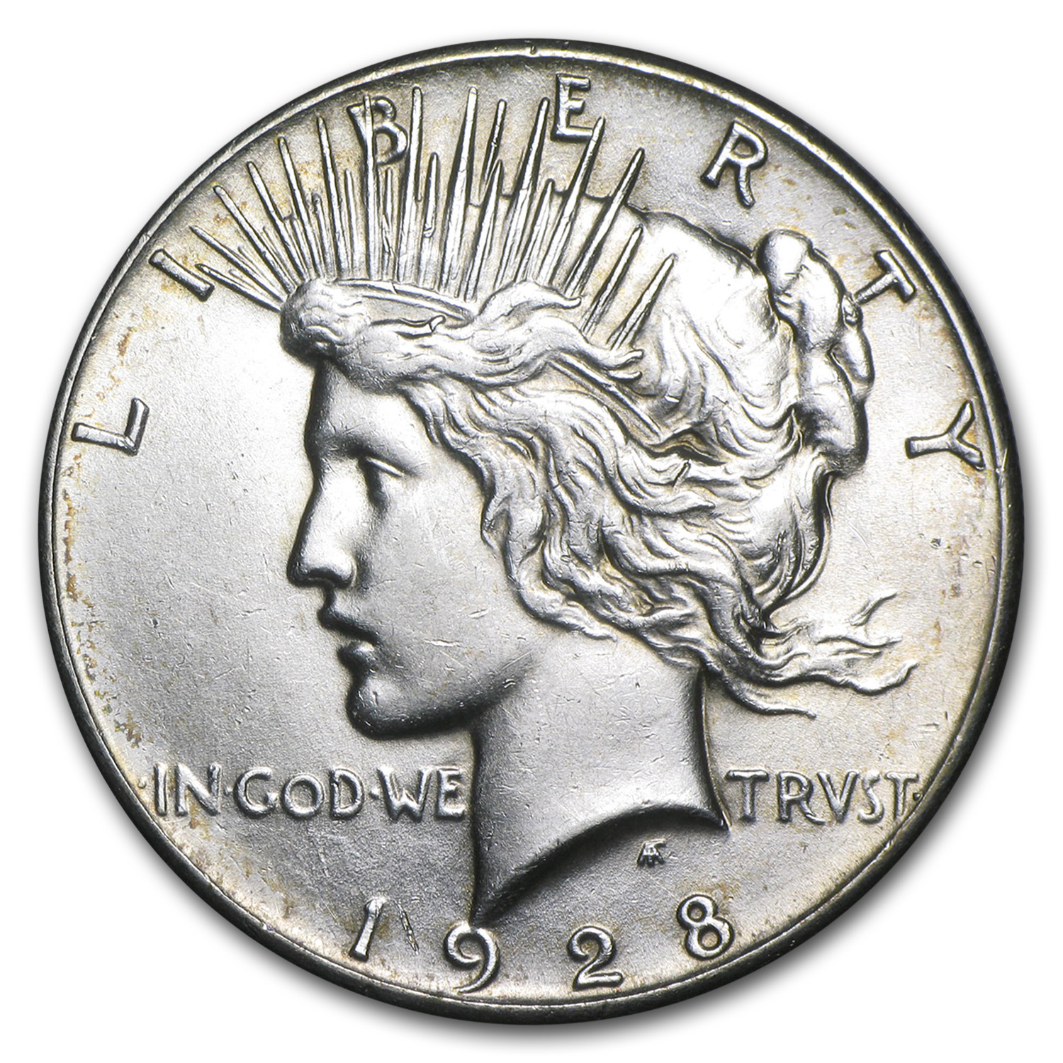 1928 Peace Dollar - Almost Uncirculated