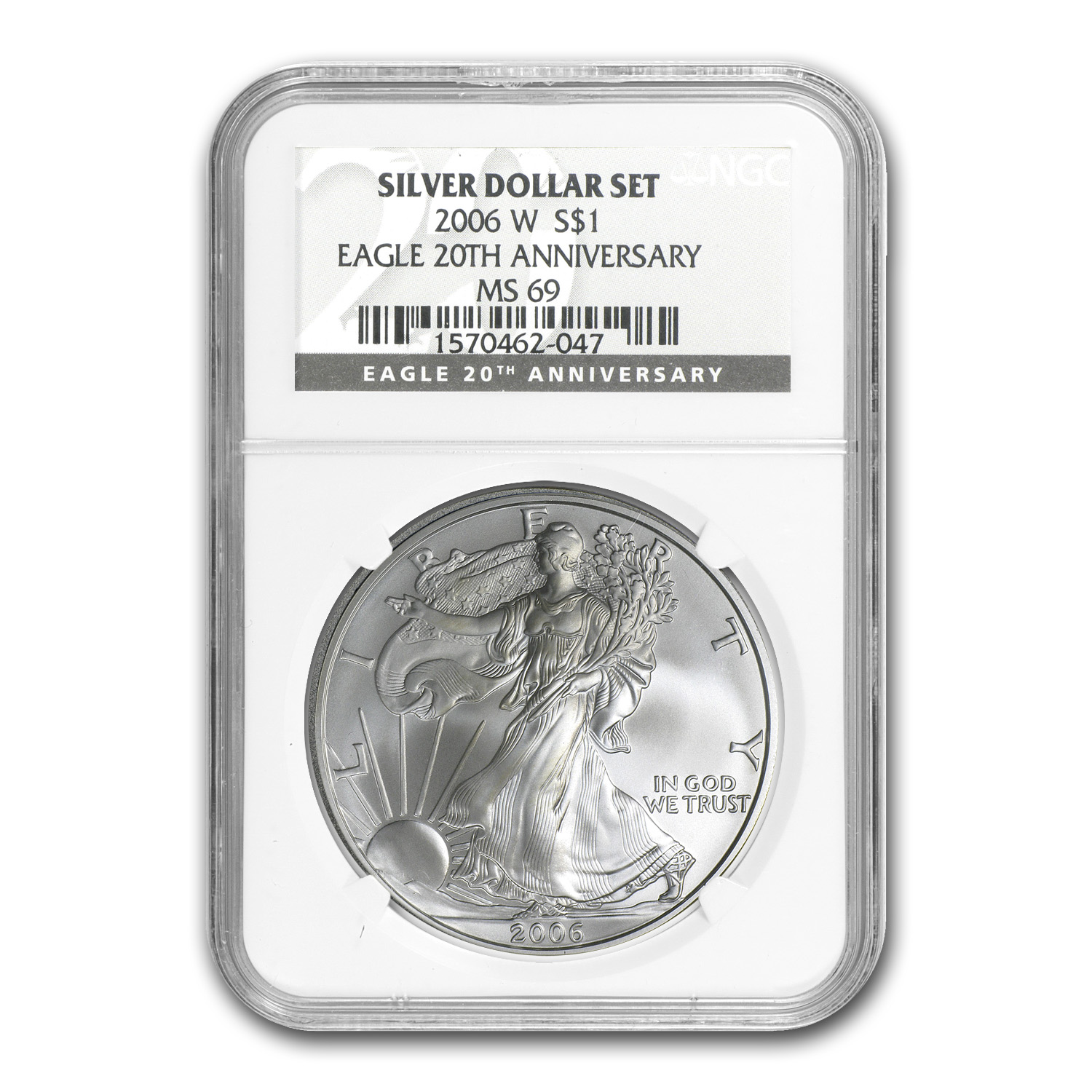 2006-W 3-Coin Proof Silver Eagle Set MS/PF-69 NGC