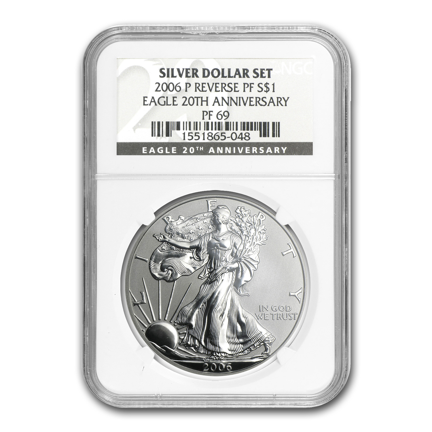 2006-W 3-Coin Silver Eagle Set MS/PF-69 NGC