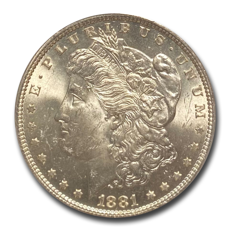 1881 Morgan Dollar MS-64 PCGS