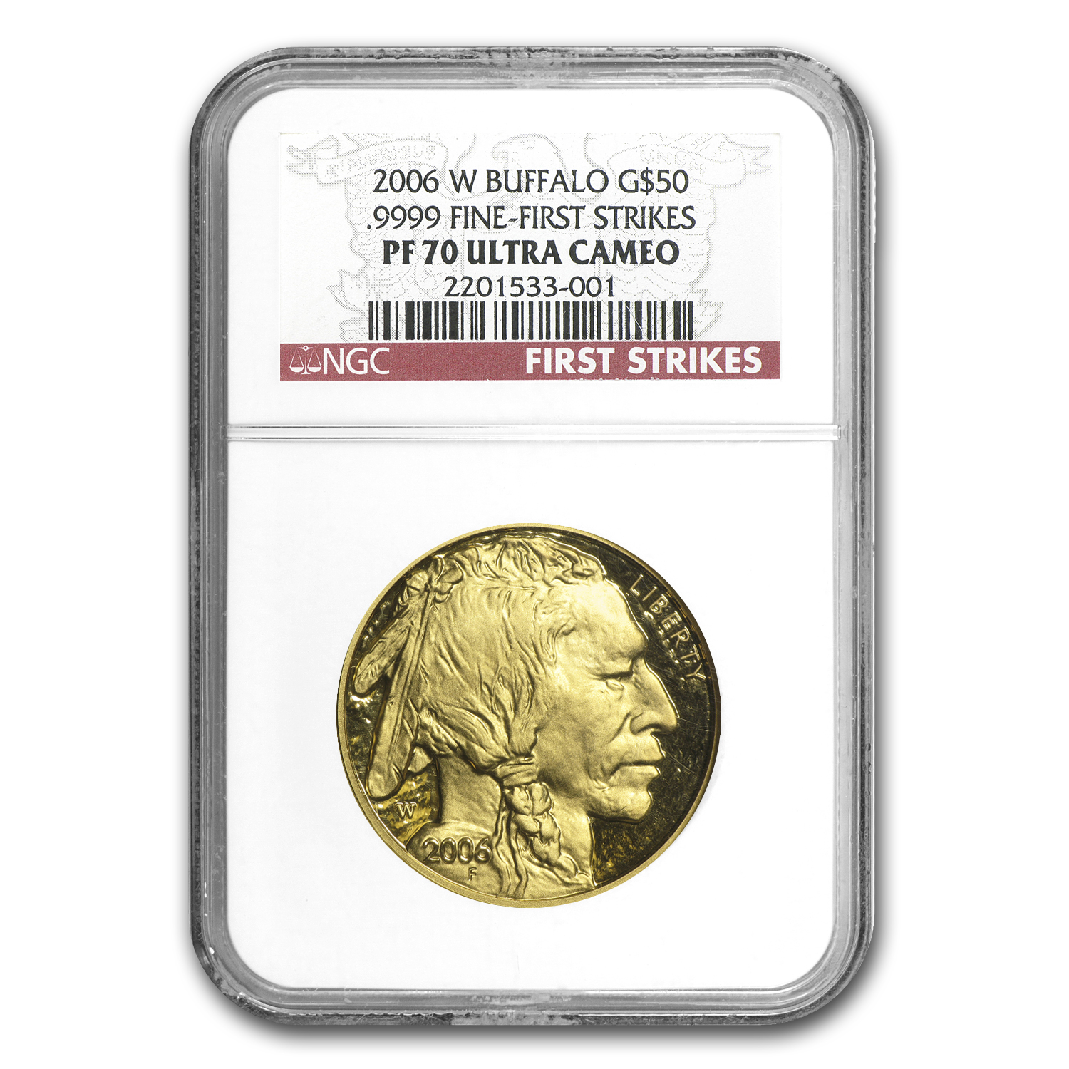 2006-W 1 oz Proof Gold Buffalo PF-70 NGC (FS)