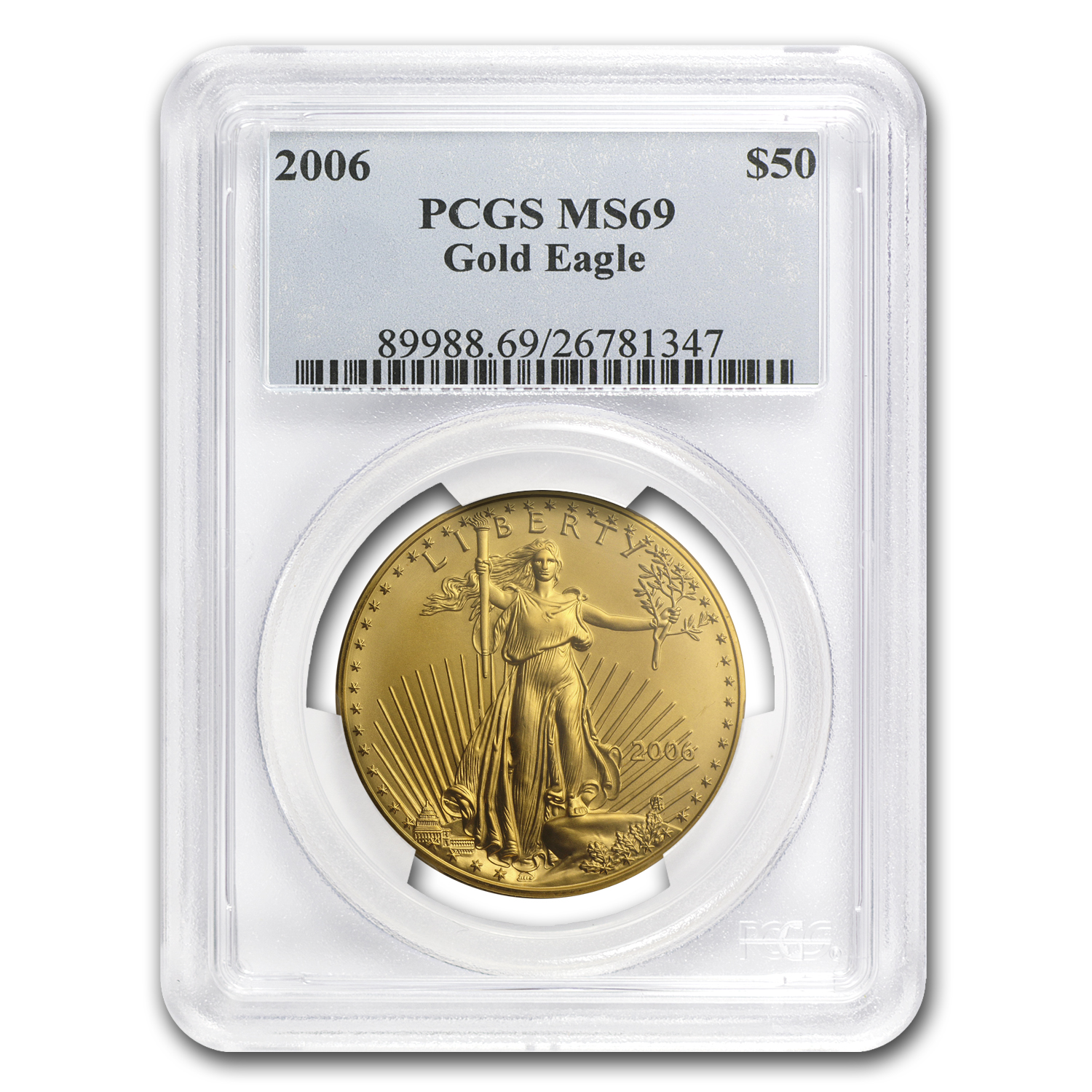 2006 1 oz Gold American Eagle MS-69 PCGS
