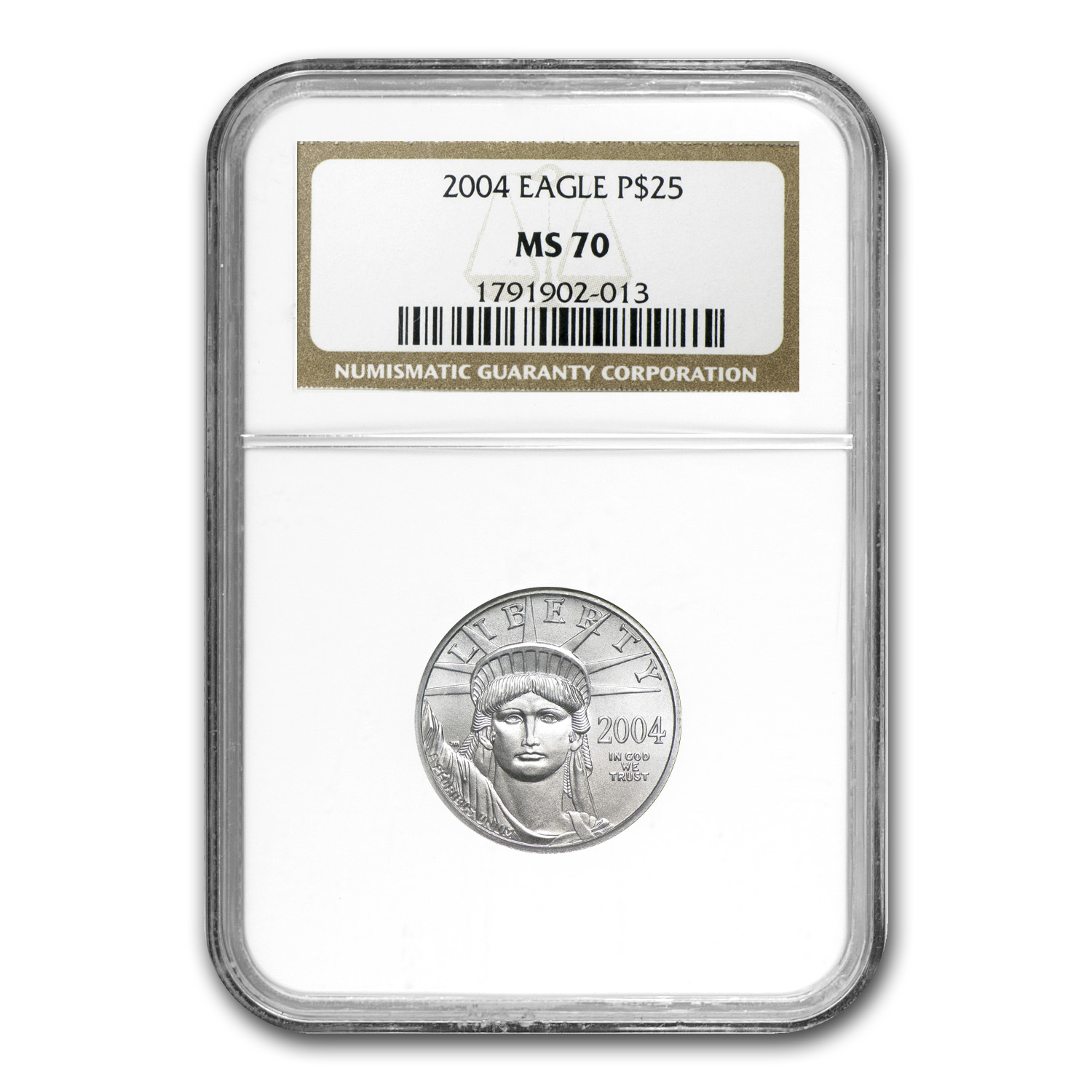 2004 1/4 oz Platinum American Eagle MS-70 NGC
