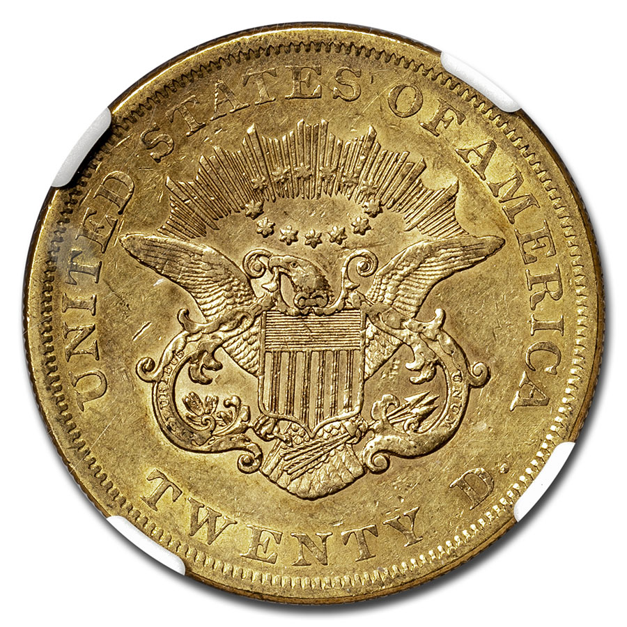 1861 $20 Liberty Gold Double Eagle XF-45 NGC