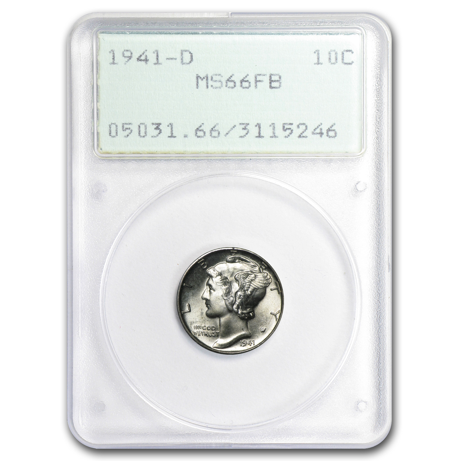 1941-D Mercury Dime MS-66 PCGS (Full Split Bands)