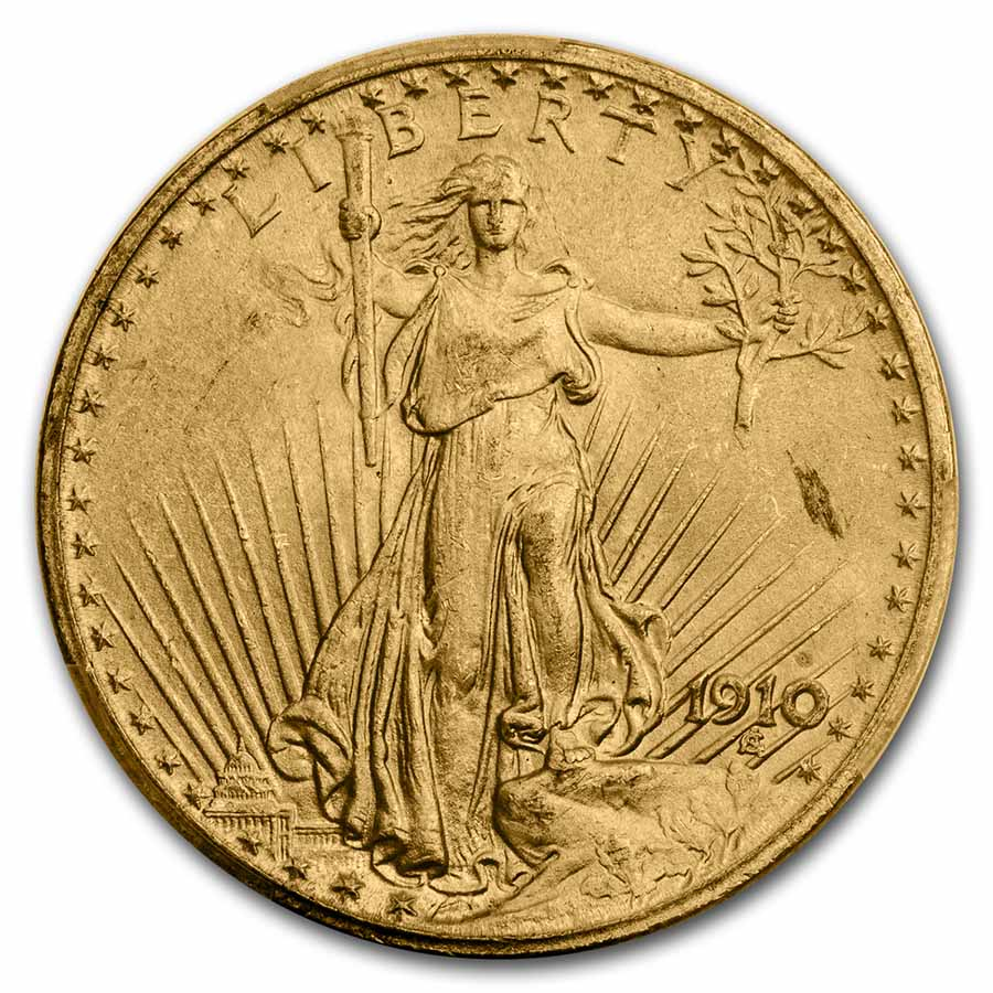 1910 $20 St. Gaudens Gold Double Eagle - MS-64 PCGS