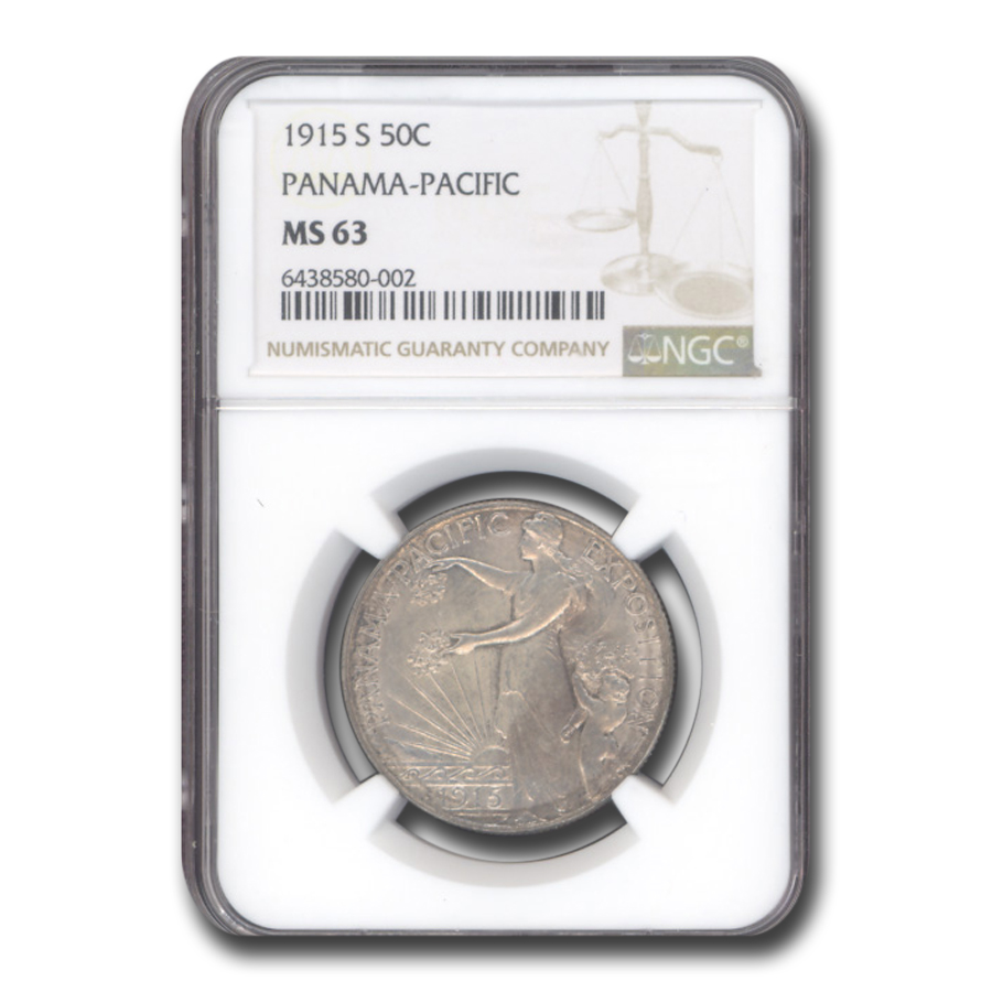 1915-S Panama Pacific Half Dollar MS-63 NGC