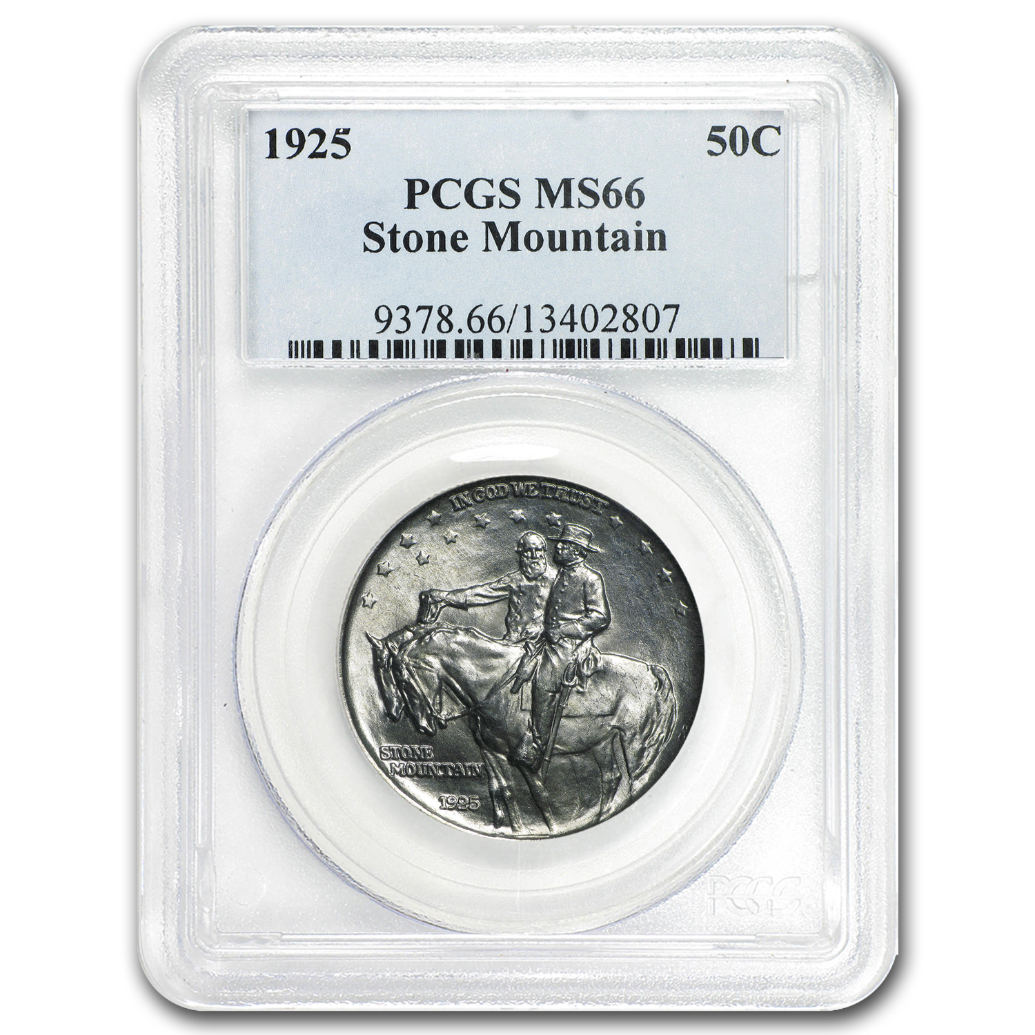 1925 Stone Mountain Memorial Half Dollar MS-66 PCGS
