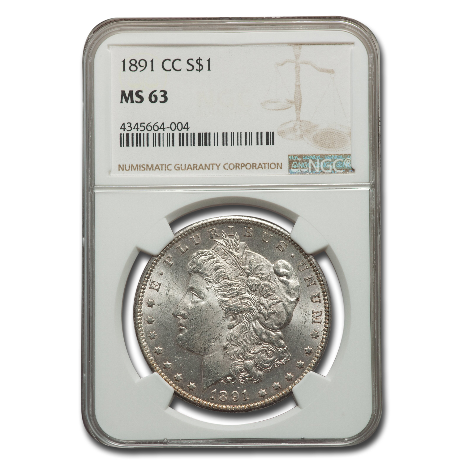 1891-CC Morgan Dollar MS-63 NGC